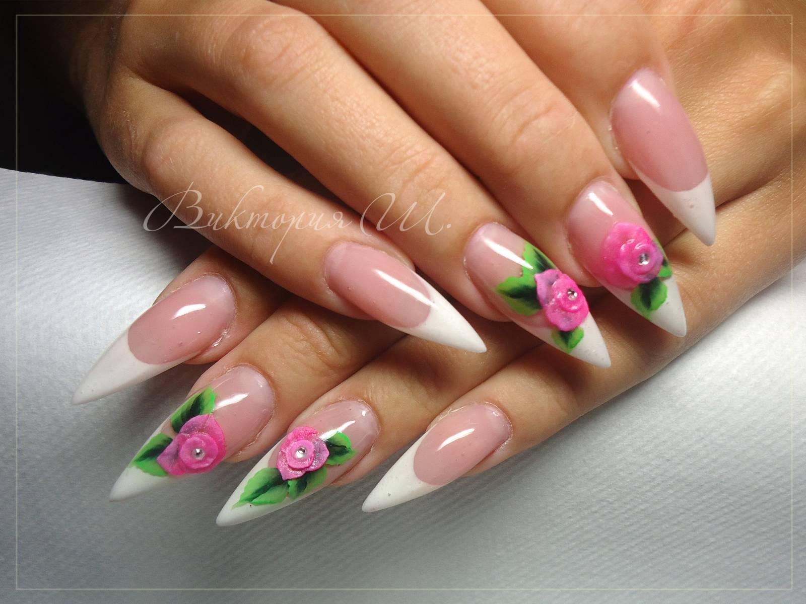 Маникюр с орхидеями - фото идей дизайна ногтей - Best Маникюр